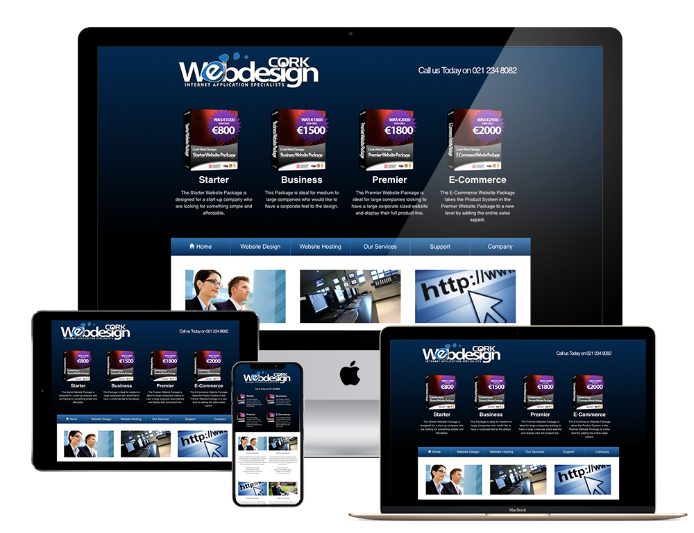 Cork Web Design websites are compatible with all devices